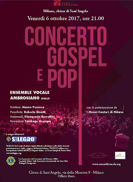 Concerto Gospel e Pop dell'Ensemble Vocale Ambrosiano contro la dislessia